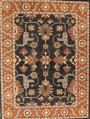100% Wool Charcoal Classic All-Over Pattern 9x12 Oushak Agra Oriental Area Rug