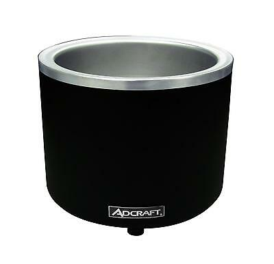 Adcraft FW-1200WR/B 7 / 11 Qt. Countertop Round Food Warmer / Cooker Black