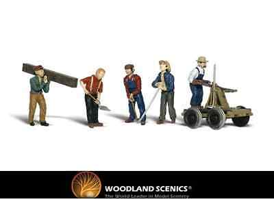 Woodland Scenics A2177 Rail Workers Figures N Gauge