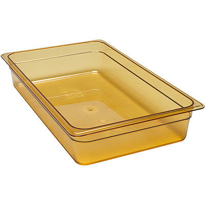 Cambro 14HP150 4in H Full Size High Heat Food Pan Amber NSF