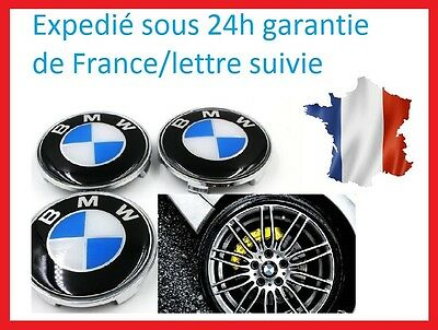 4x logo centre de roue bmw m cache moyeu jante 68 mm eur. Black Bedroom Furniture Sets. Home Design Ideas