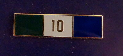 10 YEARS OF SERVICE Uniform Commendation/Award Bar police/sherifff/fire/EMS