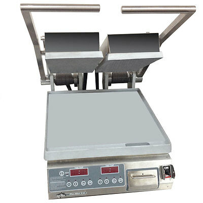 Star PST14D Pro-Max Panini Grill Alum./Smooth Plates Electronic Control