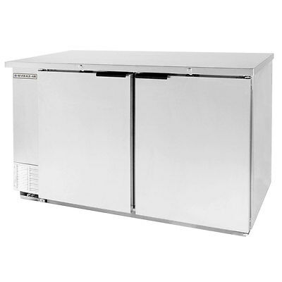 "Beverage-Air DZ58-1-S 59"" Dual Zone Refrigerated Beer & Wine Back Bar Cabinet"