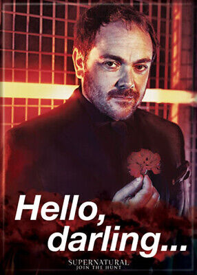 "Supernatural TV Series: Crowley ""Hello Darling"" Refrigerator Magnet, NEW UNUSED"