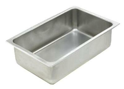 """Eagle Group 304141 Full Size Aluminum Spillage Pan 6.5in Deep - 20""""Lx12""""Wx6.5""""H"""