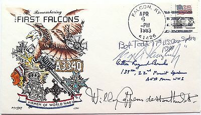 World War 1 Aces Signed Cover Vaughn, Brooks, Todd, Coppens Autographs