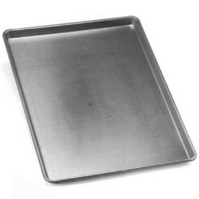"Eagle Group 2 Dz 18 Gauge Alum Solid Sheet Pan 17-3/4""x12-7/8"" Half Size"