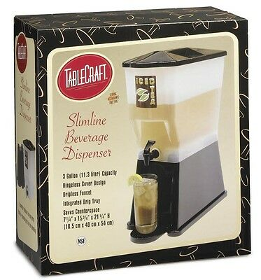 TableCraft H353DP Beverage Dispenser 3 Gallon Black Slim