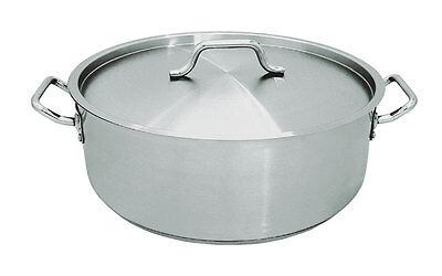 Update SBR-30 30qt Stainless Steel Induction Brazier Pan w/ Cover