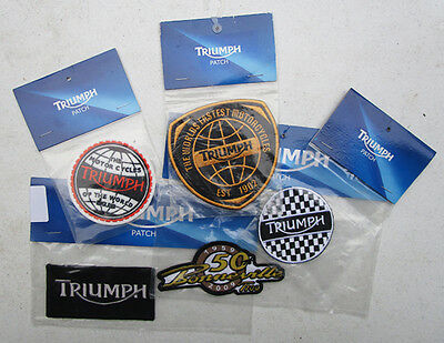 TRIUMPH MOTORCYCLE SEW ON PATCH LOT MODERN BONNEVILLE T100 THRUXTON ROCKER t120