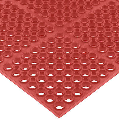 "San Jamar KM2200B 36""x60"" Bullnose Edge Kitchen Mat 3/4"" Thick Rubber Red"