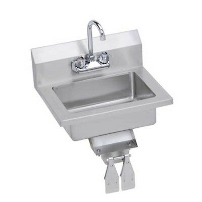 "Elkay Foodservice 18"" Economy Hand Sink Wall Mount w/ Faucet & Knee Valve"
