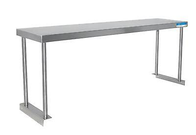 "BK Resources BK-OSS-1260 60""W x 12""D S/s Single Overshelf Table Mount NSF"