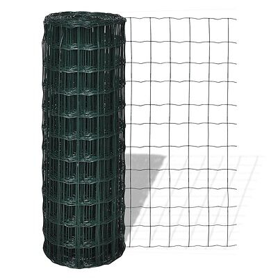 25x1.8m Roll Wire Mesh Fence Steel PVC Coated Graden Pet Coop Aviary Fencing