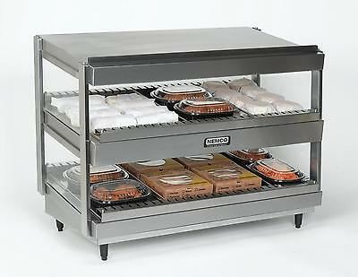 "Nemco 6480-36S 36"" Slanted Heated Display Merchandiser 2 Shelves 120v"