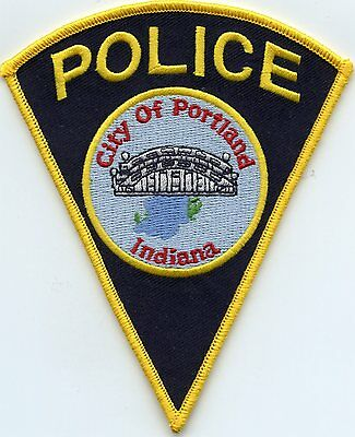 Portland Indiana In Police Patch