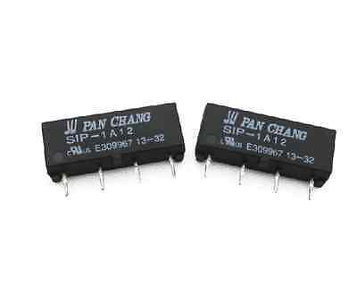 2 pcs 12V Relay SIP-1A12 Reed Switch Relay 4PIN for PAN CHANG Relay