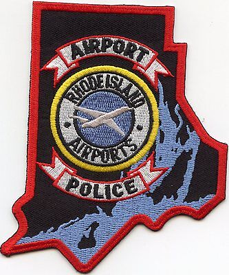 RHODE ISLAND RI state shape shaped AIRPORT POLICE PATCH