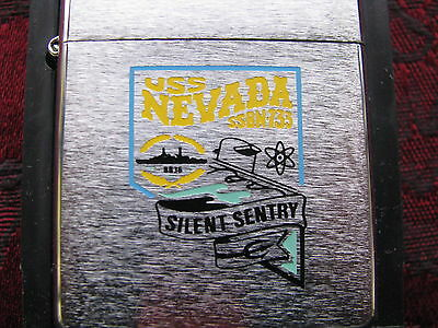 Zippo Lighter 2000 SSBN733 USS Nevada Silent Sentry Nuclear Submarine, MIB
