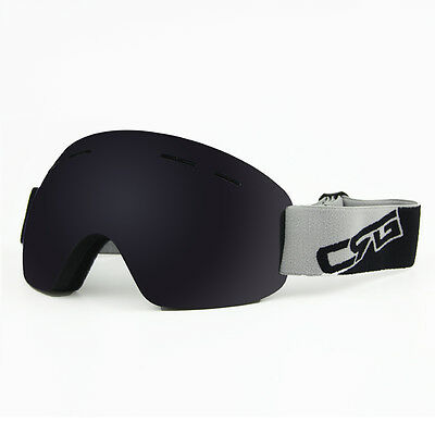 Frameless Professional Snowboard Snowmobile Ski Goggles Anti-Fog UV100% Lens