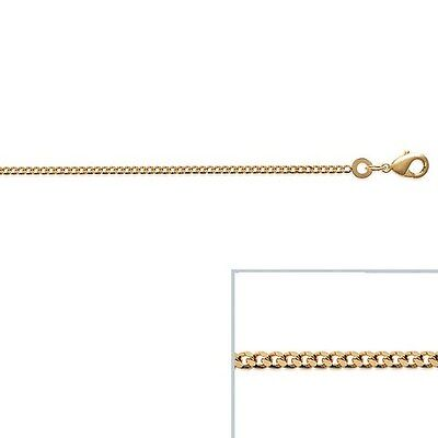 Chain Gold-Plated 18k Mesh Curb Way 45cm 1,8mm New