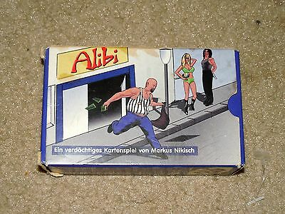Vintage Rare Alibi German Germany Card Game Used