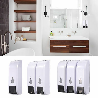 3x 350ml Wall-mounted Soap Dispenser Hotel Home Shampoo Shower Gel Container New