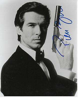 PIERCE BROSNAN 'JAMES BOND' HAND SIGNED AUTOGRAPHED 8x10 PHOTO