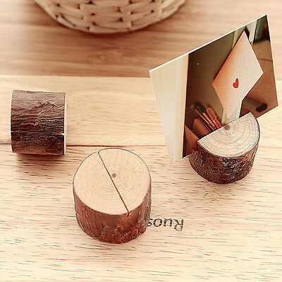 10pc Wood Name Place Card Holder Memo Number Clip Stand Wedding Party Restaurant
