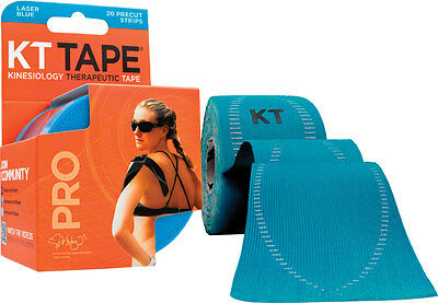 KT Tape Pro Kinesiology Therapeutic Body Tape: Roll of 20 Strips, Laser Blue