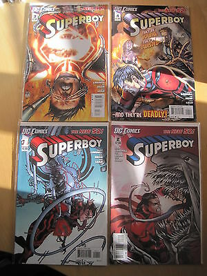 SUPERBOY  #s 1, 2, 3, 4 COMPLETE. DC  THE NEW 52 ! DC.2011