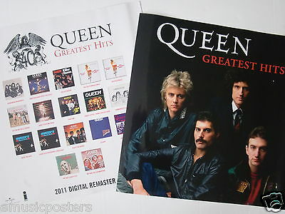 """Queen """"2011 Digital Remastered / Greatest Hits"""" 2-Sided Thailand Promo Poster"""