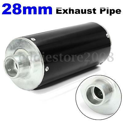 Motorcycle Pitbike Dirt Bike Scooter Exhaust Decor Pipe 50 110 125cc 140cc Black