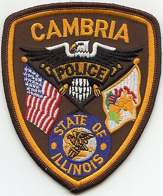 Cambria Illinois Il Police Patch