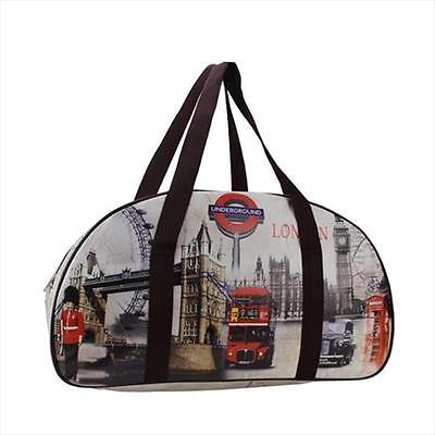 NorthLight 20.25 in. Decorative Vintage-Style London Theme Travel Bag & Purse