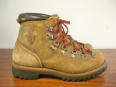 Vintage Vasque Made in USA Mountaineering Hiking Leather Stomper Men's Boots 8.5