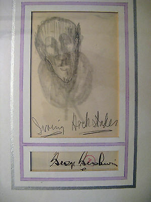George GERSHWIN (Composer): Original Drawing and Autograph Signature