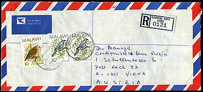 Malawi 1990 Registered Airmail Commercial Cover To Austria #C38920