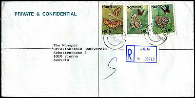Nambia 1997 Registered Airmail Commercial Cover To Austria #C38921