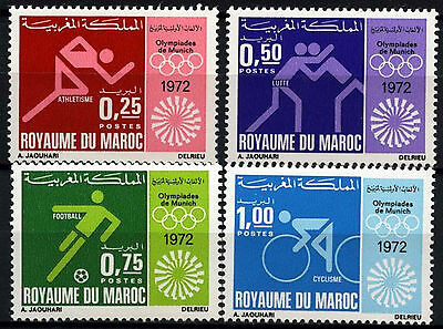 Morocco 1972 SG#329-332 Olympic Games MNH Set #D39644