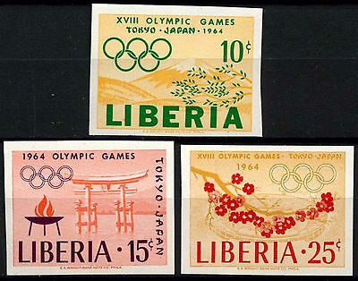 Liberia 1964 SG#901-3 Olypic Games MNH Imperf Set #D39633