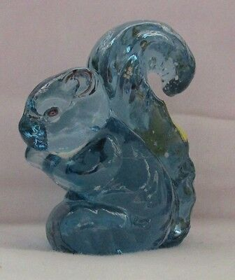 Boyd Glass Sammy The Squirrel Hand Painted  ( Cambridge Blue) No Lines