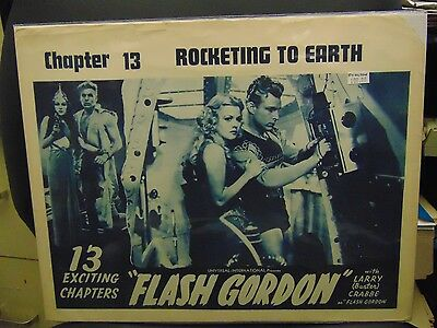 "Buster Crabbe Flash Gordon 1950's Reissue 11x14"" Lobby Card #L8568"