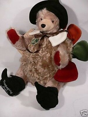 HC 98 Hermann Coburg Teddy Thanksgiving Bear 40cm gestaltet als Thanksgiving Tru