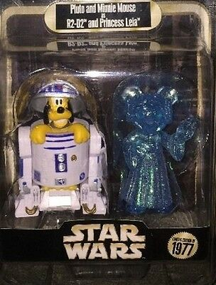 Disney Star Wars Weekends 2015 Pluto R2-D2 Minnie Holographic Leia LE Figure