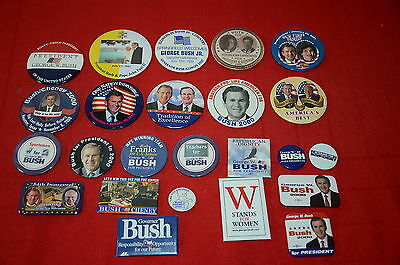George Bush President Buttons 2000 Election Campaign Pin Lots #10  1344