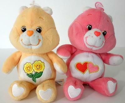 2002 TCFC Love A Lot And Friend Plush Care Bears 8 Inches Tall