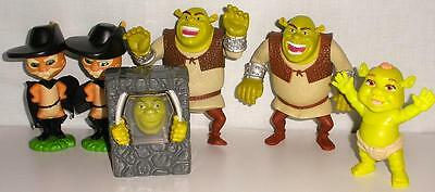 6 Assorted Dreamworks Burger King And McDonald's Shrek Action And Talking Toys