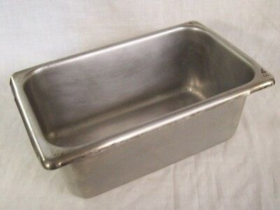 """Restaurant Equipment 1/4th FOURTH SIZE STAINLESS STEEL STEAM TABLE PAN 4"""" DEEP"""